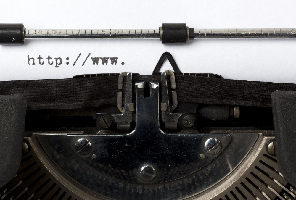 29486877 - beginning of url written on old typewriter