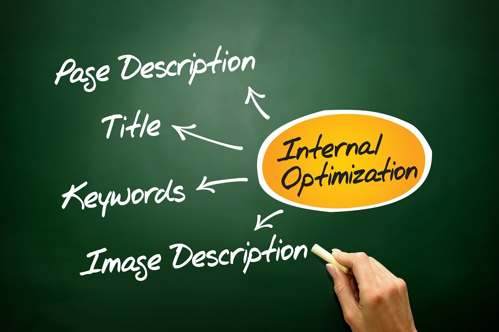 37958772 - internal optimization of website's pages (seo), business concept on blackboard