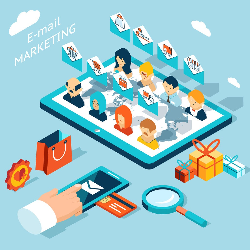 39567293 - mobile app for email marketing. manage mailing from your smartphone or tablet pc
