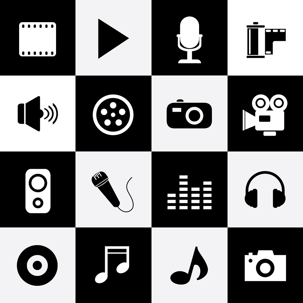 31087997 - media entertainment symbol for use