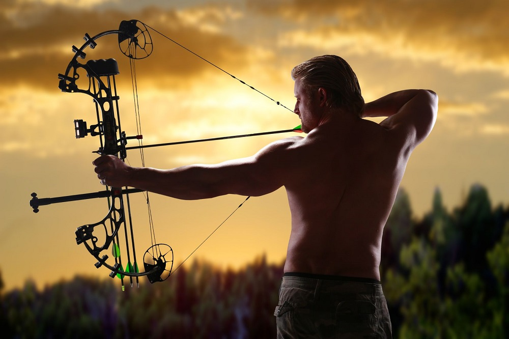 18122736 - hunting with a compound bow