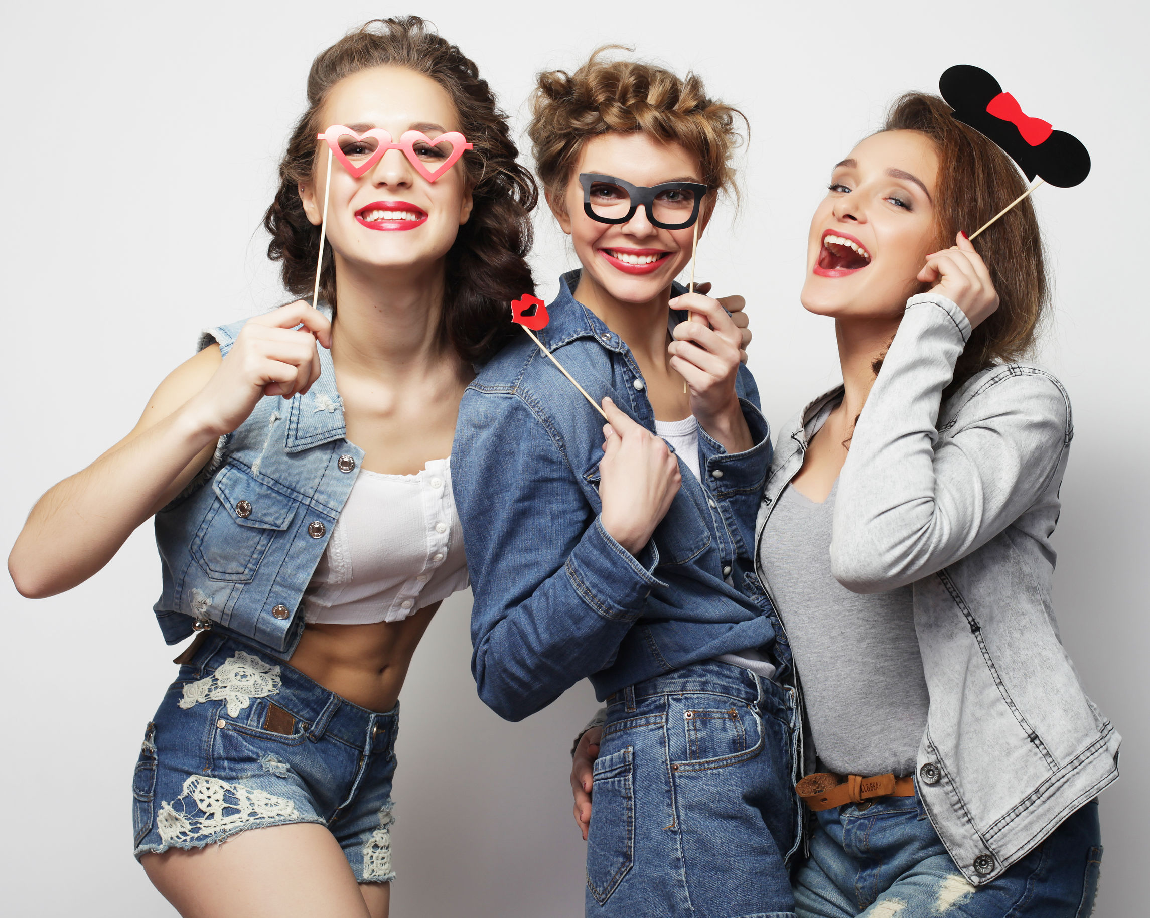 60208197 - stylish sexy hipster girls best friends ready for party